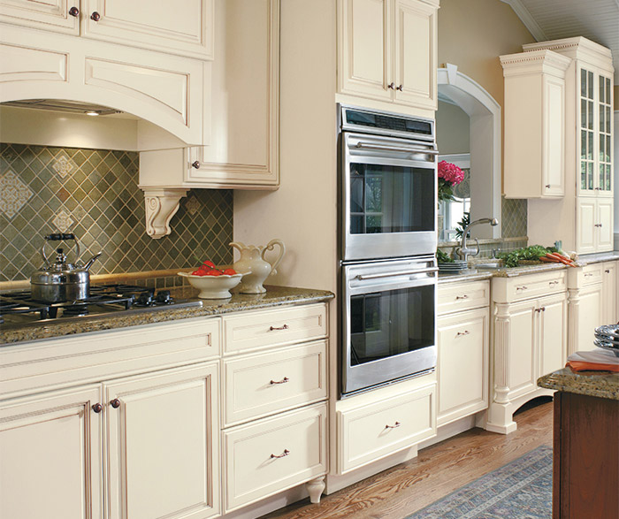 Galleria Small Kitchen Design With Traditional Cabinets In Maple Chantille  And Cherry Brandywine Coffee Finishes ...