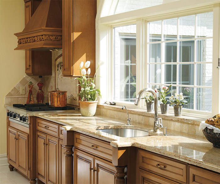 galleria traditional kitchen cabinets in maple coriander with coffee finish