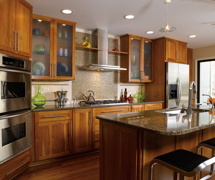 Contemporary Shaker kitchen cabinets by Decora Cabinetry