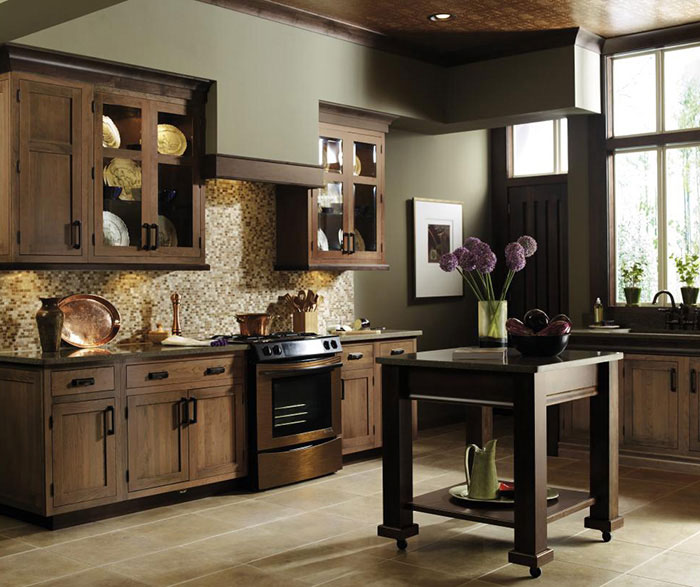 Cherry Inset Kitchen Cabinets