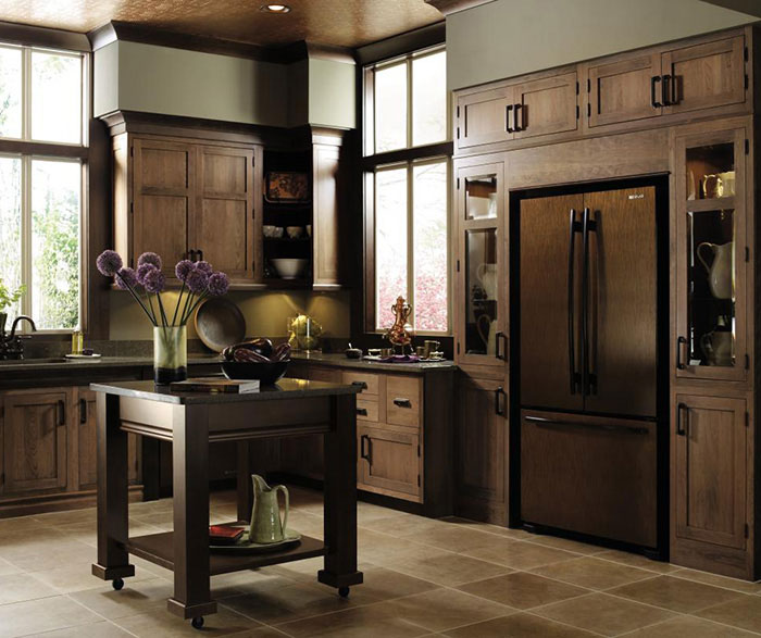 cherry inset kitchen cabinets by decora cabinetry - Beaded Inset Kitchen Decor