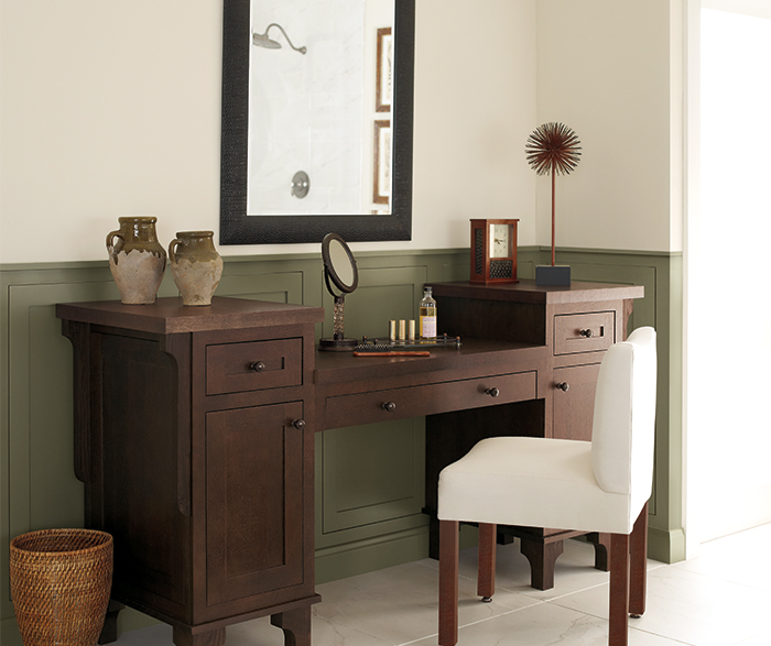 inset bathroom cabinets vanity cabinet in quartersawn oak decora cabinetry 13248