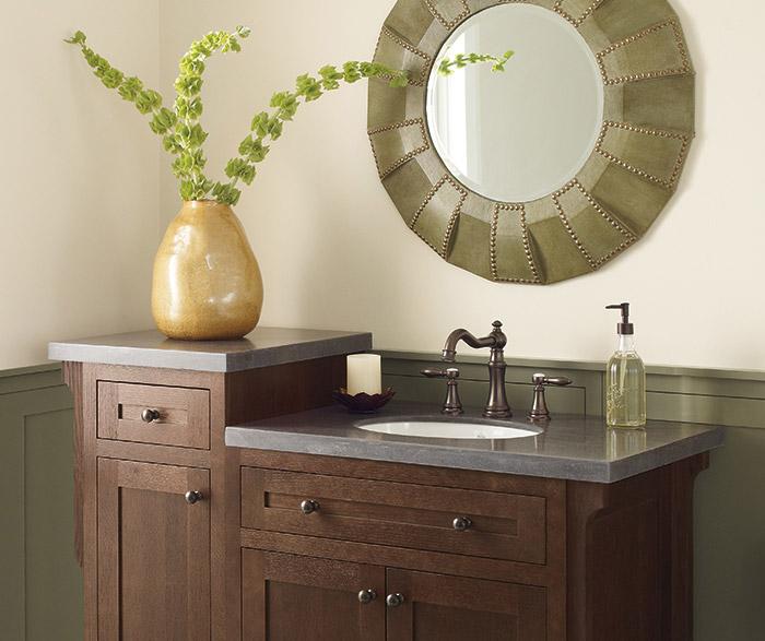 Vanity Cabinet In Quartersawn Oak