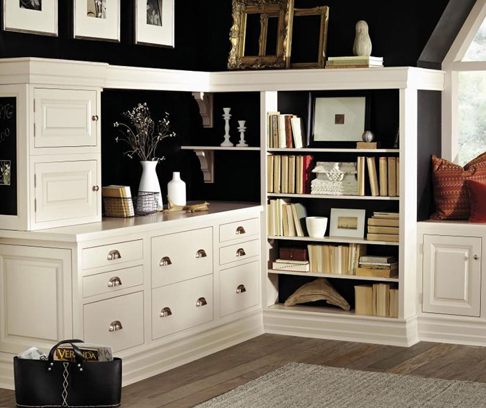Inset Cabinets in a Home Office