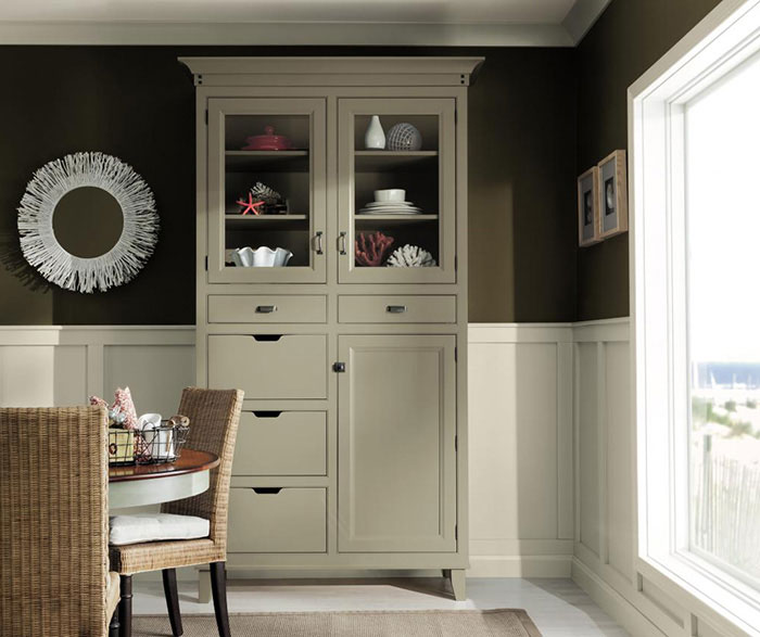 inset dining room cabinets by decora cabinetry