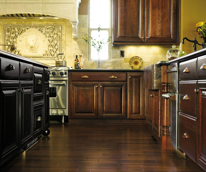... Dark Cherry Cabinets In A Traditional Kitchen By Decora Cabinetry ...