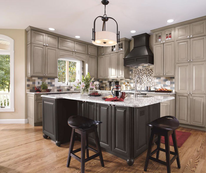 Attractive Gray Kitchen Cabinets By Decora Cabinetry ... Home Design Ideas