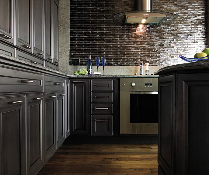 ... Dark Grey Kitchen Cabinets By Decora Cabinetry ...