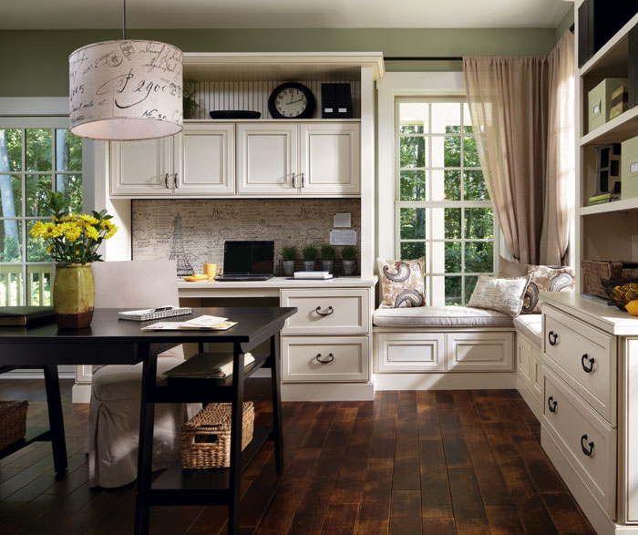 Charmant Office Cabinets In Painted Maple By Decora Cabinetry ...
