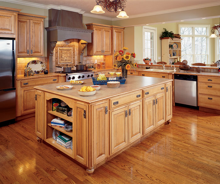 Natural Maple Kitchen Cabinets By Decora Cabinetry ...