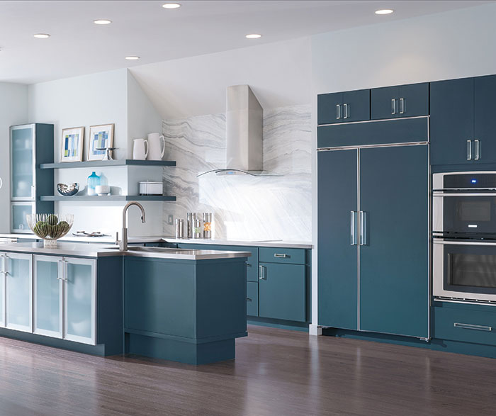 Blue painted kitchen cabinets by Decora Cabinetry ... & Blue Painted Kitchen Cabinets - Decora Cabinetry