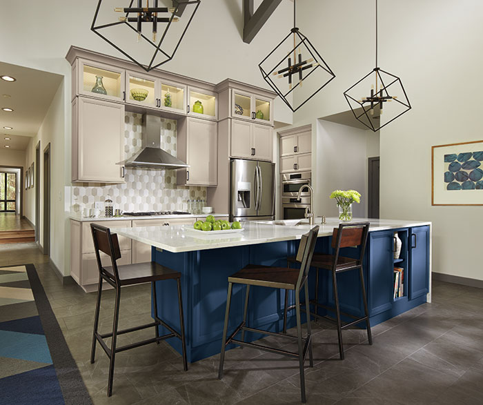 Blue Gray Kitchen Cabinets Contemporary Blue and Gray Kitchen Cabinets   Decora Cabinetry