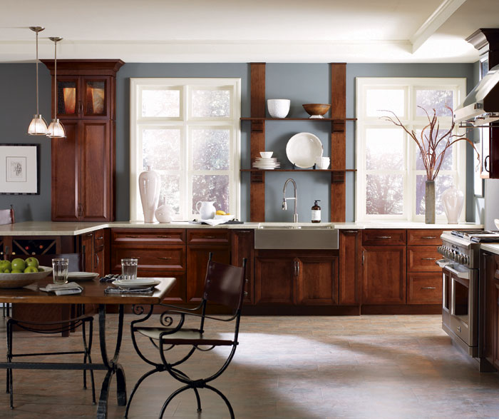 Dark Cherry Kitchen Cabinets By Decora Cabinetry ...