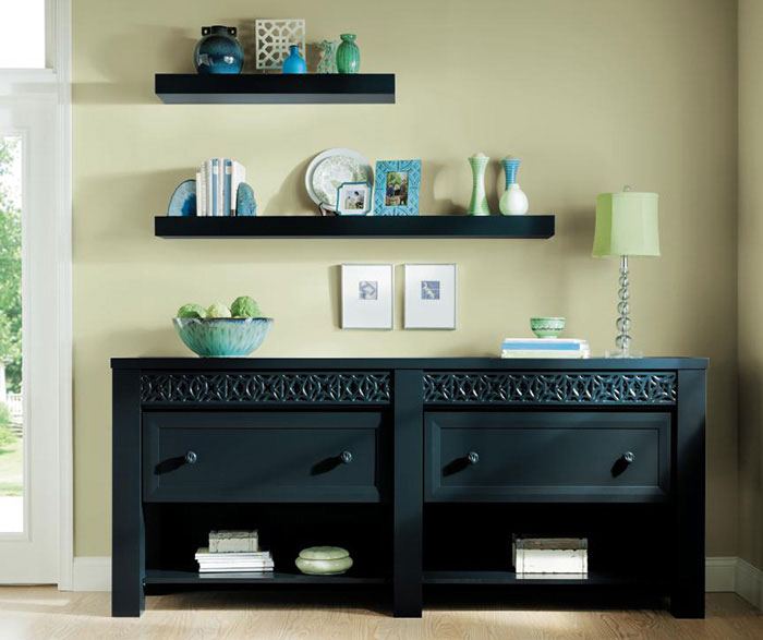 Painted Maple credenza cabinets by Decora Cabinetry