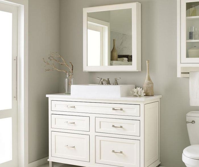 ... White Inset Bathroom Cabinets By Decora Cabinetry ...