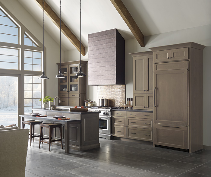 Gray Kitchen Cabinets With Island Decora Cabinetry