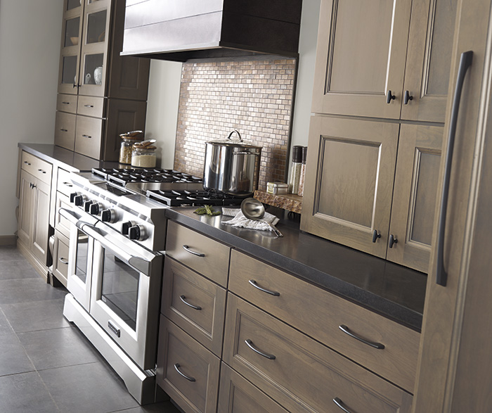 Grey Kitchen Cabinets: Gray Kitchen Cabinets With Island