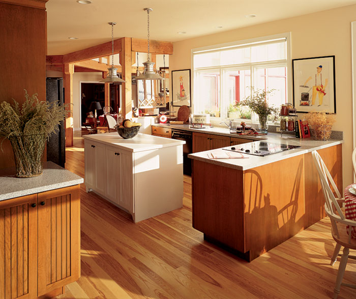 Beadboard kitchen cabinets by Decora Cabinetry