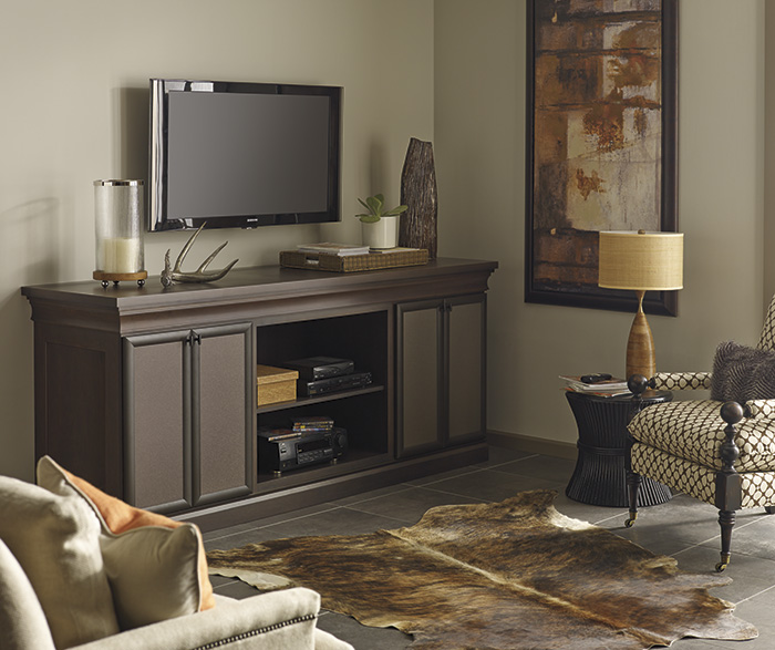 Beau Cherry Media Cabinet By Decora Cabinetry