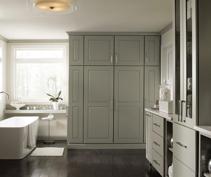 Gray Cabinets in a Casual Bathroom