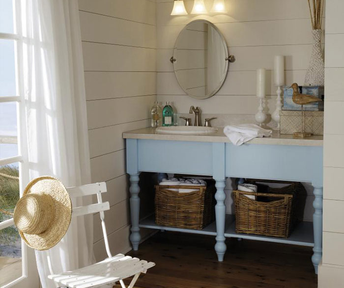 Light Blue Vanity Cabinet Decora Cabinetry