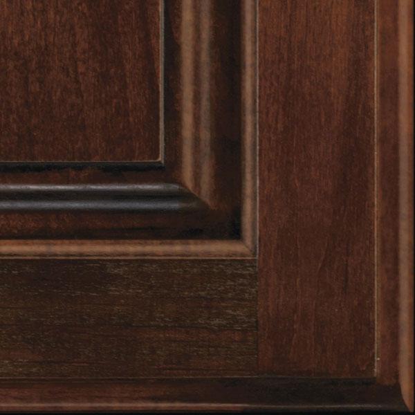 Arlington Espresso Glazed Cabinet Finish On Alder Decora