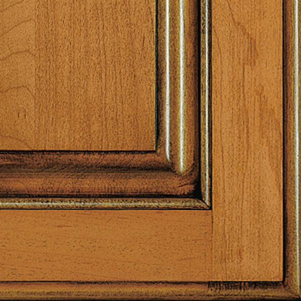 Natural Coffee Glazed Cabinet Finish On Maple Decora