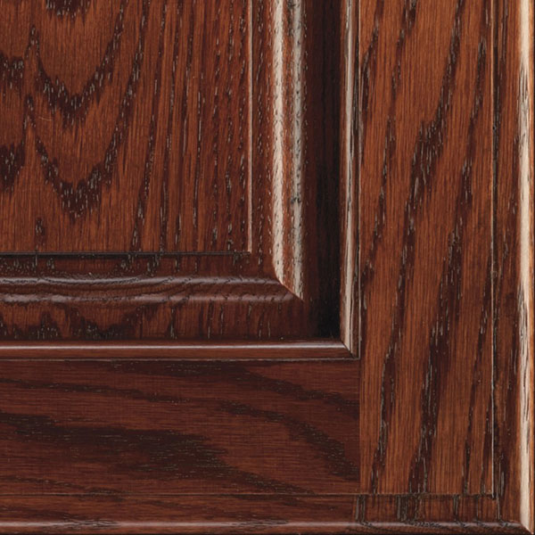 Arlington Espresso Glazed Cabinet Finish On Oak Decora
