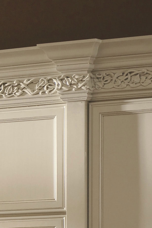 Enkeboll Cabinet Moulding, Art Nouveau
