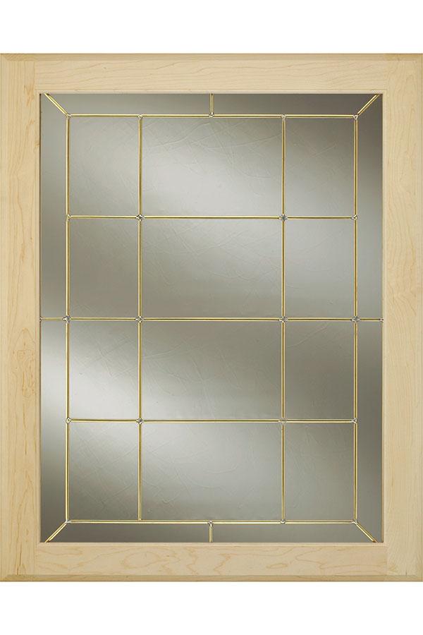 Edinburgh Brass Glass Cabinet Insert Decora