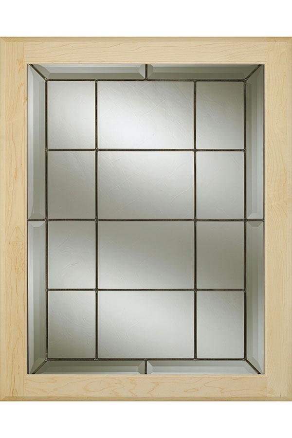 Edinburgh Patina Glass Cabinet Insert Decora