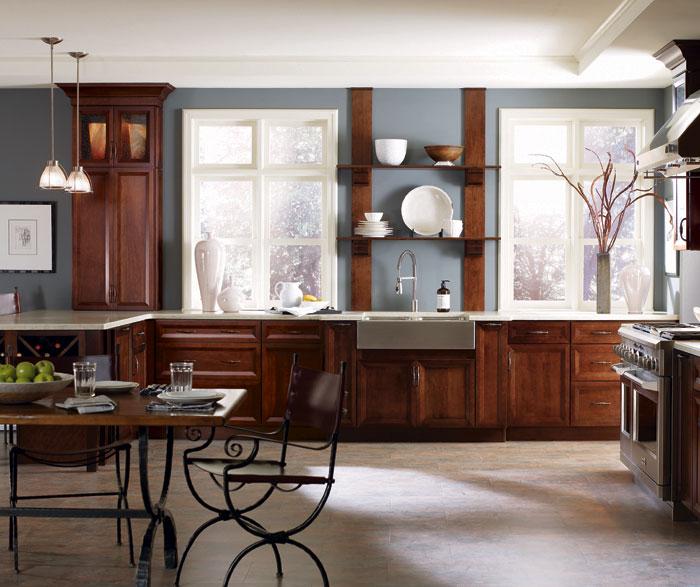 Dark Cherry Kitchen Cabinets - Decora Cabinetry